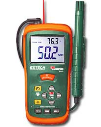 A picture of Hygro-Thermometer + Infrared Thermometer