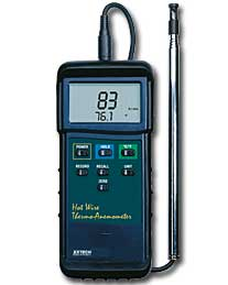 A picture Heavy Duty Hot wire Thermo & Anemometer